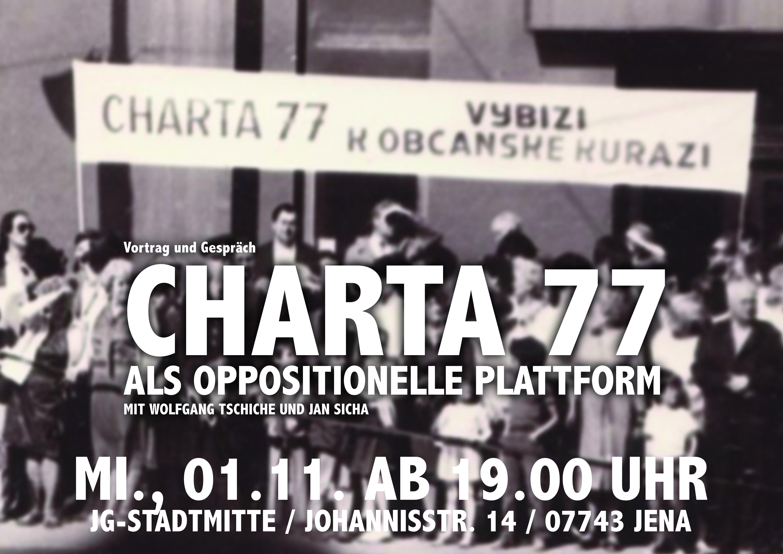 JG-Stadtmitte » » Vortrag: Charta 77 als oppositionelle Plattform